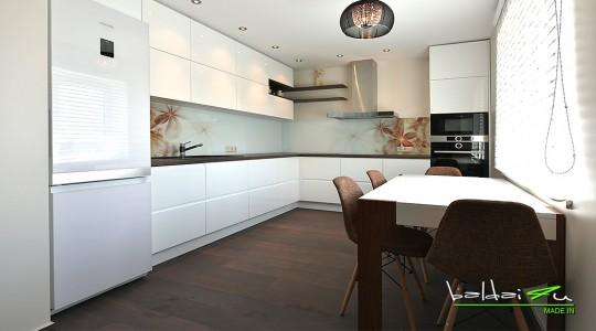 balta virtuve - dazyti baldai