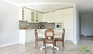 Virtuves baldai balti klasikiniai