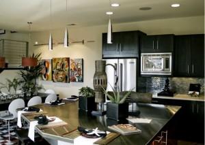 azijos stiliaus virtuves baldai